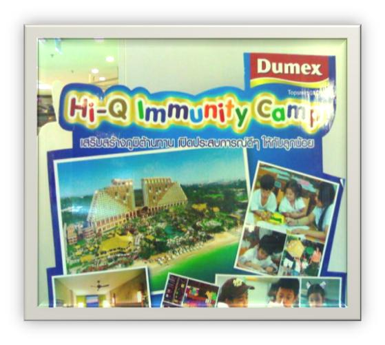 Advertising board for the summer camp of Dumex school